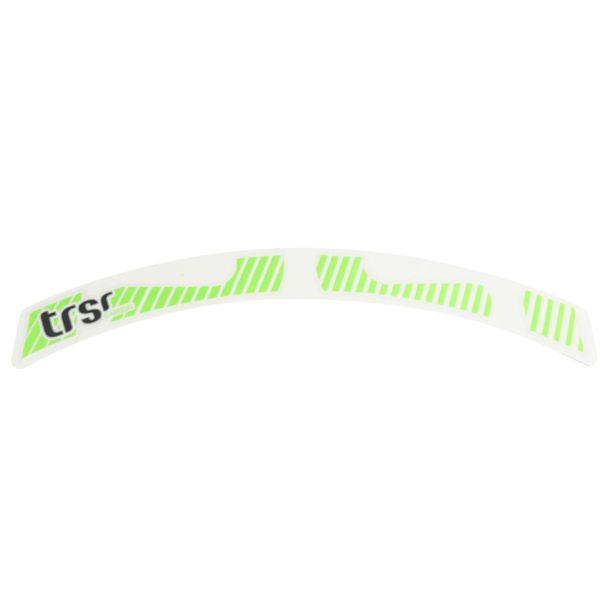 E*13 naklejka na obręcz carbon neon zielony